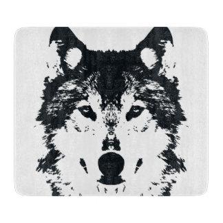 Planche À Découper Loup noir d'illustration