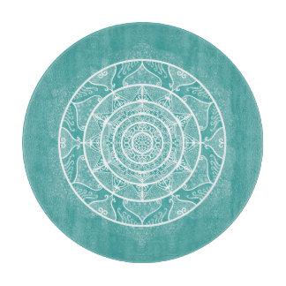 Planche À Découper Mandala impeccable bleu
