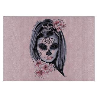 Planche À Découper Masque de squelette de femme