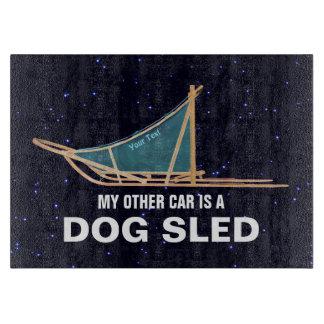 Planche À Découper Mon autre voiture est un traîneau de chien