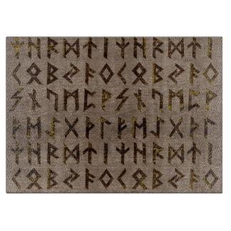 Planche À Découper Motif celtique antique d'alphabet de runes