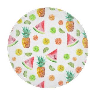 Planche À Découper Motif de fruit glacé d'aquarelle