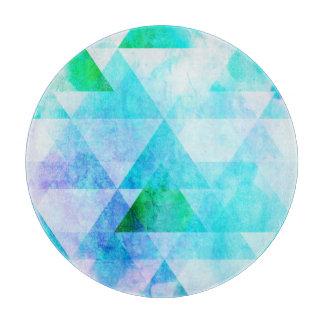 Planche À Découper Motif géométrique d'aquarelle bleue