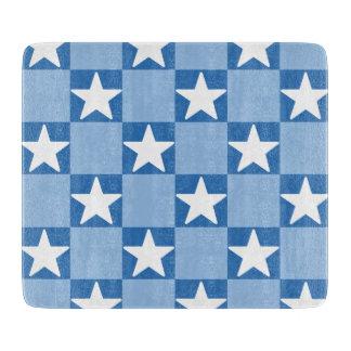 Planche À Découper Motif mignon de damier d'étoile