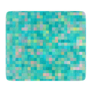 Planche À Découper Motif multicolore d'art de pixel