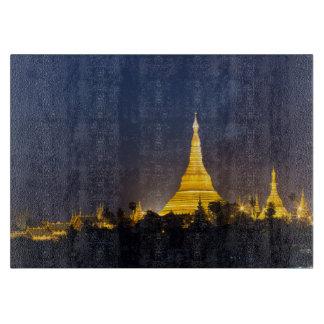 Planche À Découper Pagoda de Shwedagon la nuit