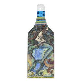 """Planche À Découper Palette en verre décorative de hachoir de """"sirène"""""""