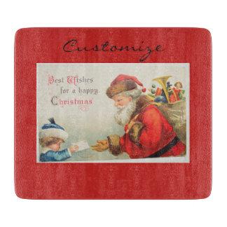 Planche À Découper Père Noël et Noël vintage de nostalgie de garçon