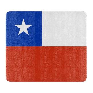 Planche À Découper Petit conseil de taille du verre avec le drapeau