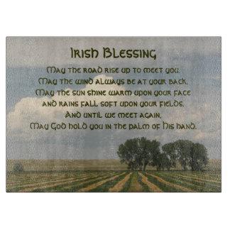 Planche À Découper Photo irlandaise de terres cultivables de
