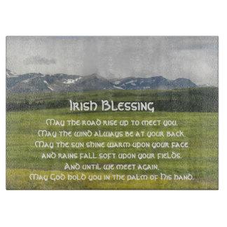 Planche À Découper Photo irlandaise de vallée verte de bénédiction