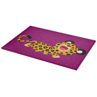 Planche à découper plaisante de léopard de bande d