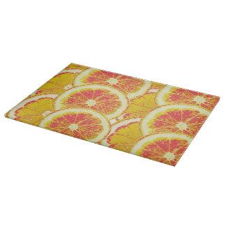 Planche À Découper Planche a découper en verre Citrons Rosés