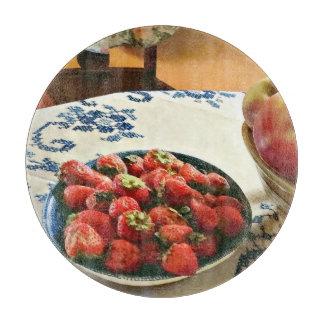 Planche À Découper Plat des fraises