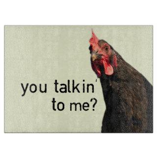 Planche À Découper Poulet drôle d'attitude - vous talkin à moi ?
