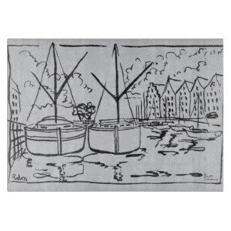 Planche À Découper Rivière de Vilaine de La des voiliers  , Redon, la