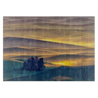 Planche À Découper Rolling Hills de blé au lever de soleil | WA