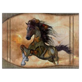 Planche À Découper Steampunk, cheval impressionnant de steampunk