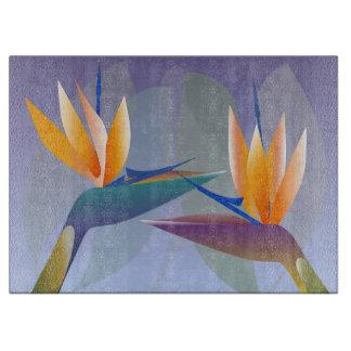 Planche À Découper Strelitzia ou oiseau des fleurs de paradis