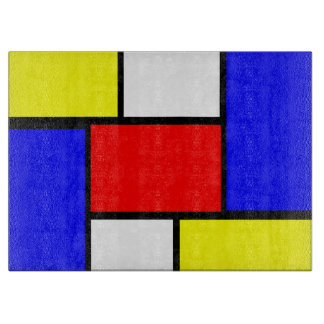 Planche À Découper Style de motif de Mondrian