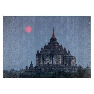 Planche À Découper Temple bouddhiste au coucher du soleil