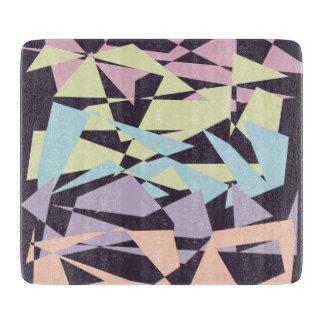 Planche À Découper triangles géométriques de bloc élégant de couleur