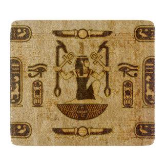 Planche À Découper Vieux papier de papyrus d'ornement égyptien