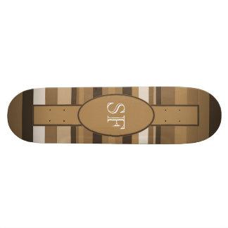 Planche À Roulette Monogramme beige de rayure de Brown