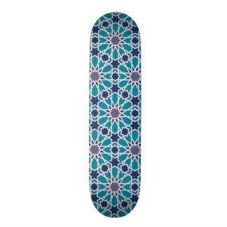 Planche À Roulette Motif abstrait dans bleu et gris