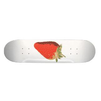 Planche à roulettes blanche de fraise plateaux de skateboards customisés