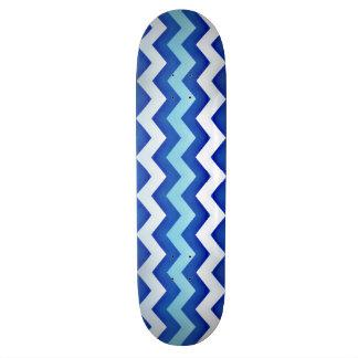 Planche à roulettes bleue 2 de conception de vague plateau de planche à roulettes
