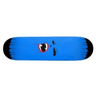 Planche à roulettes bleue de coutume de vamp plateaux de planche à roulettes