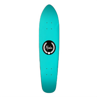 """Planche à roulettes bleue de """"guirlande"""" de Njoku Plateaux De Skateboards Customisés"""