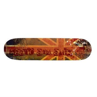 Planche à roulettes britannique de drapeau plateaux de skateboards