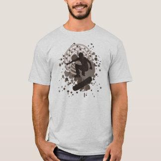 planche à roulettes. bulles de haute fidélité t-shirt