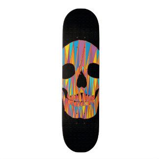 Planche à roulettes colorée de crâne plateau de planche à roulettes
