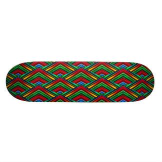Planche à roulettes colorée de dessin géométrique skateboard  20 cm