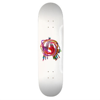 planche à roulettes d'anarchie d'arc-en-ciel skateboard old school 18,1 cm