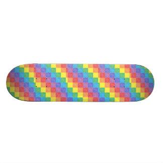 Planche à roulettes d'arc-en-ciel de patchwork skateoard personnalisé