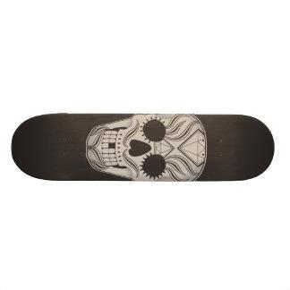 Planche à roulettes d'art de crâne de sucre skateboards personnalisables