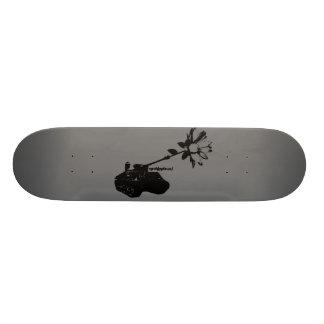 planche à roulettes d'art de rue par l'artiste no_ plateau de skate