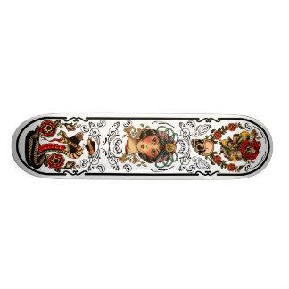 Planche à roulettes d'art de tatouage skateboard 19,7 cm