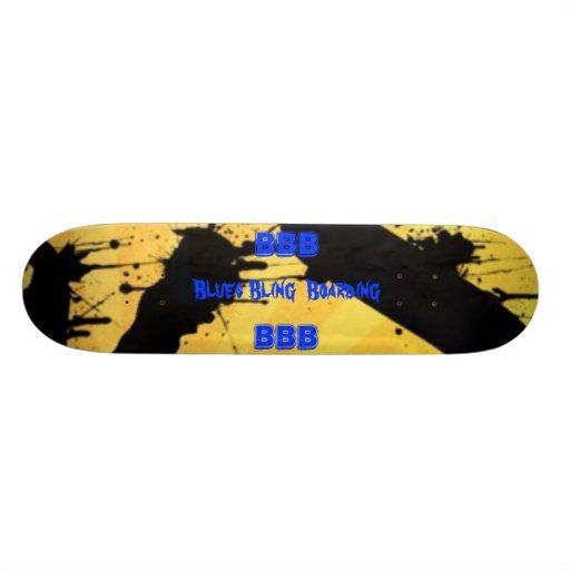 Planche à roulettes de Bling de bleus pro Skateboards Personnalisables