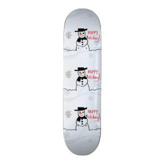 Planche à roulettes de bonhomme de neige plateaux de skate