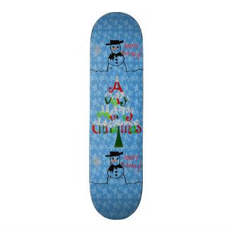 Planche à roulettes de bonhomme de neige skateboard  20 cm