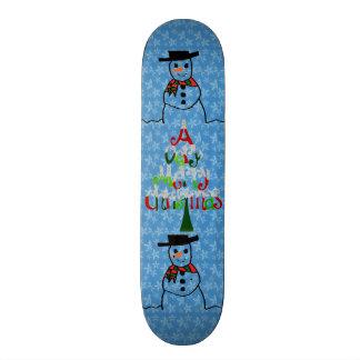 Planche à roulettes de bonhomme de neige skateboard old school  21,6 cm