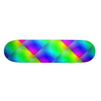 Planche à roulettes de contrôleur d'arc-en-ciel mini skateboard 18,4 cm