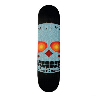 Planche à roulettes de crâne skateboard