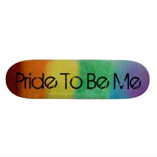 Planche à roulettes de fierté d'arc-en-ciel skateboard customisable