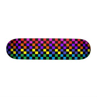 Planche à roulettes de filles d'arc-en-ciel skateoard personnalisé